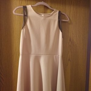 Dusty rose colored mid length dress